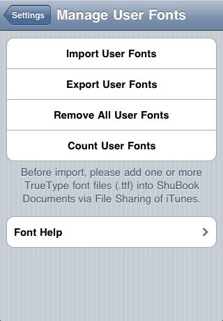 Import User Fonts